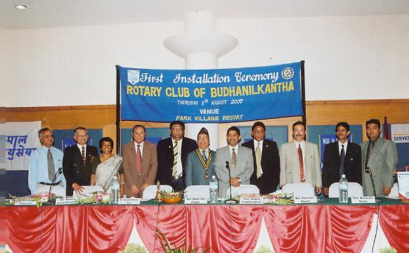 First Installation Ceremony - DG with the Club Officers